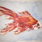 Pet portrait of a gold fish - Kelly Goss