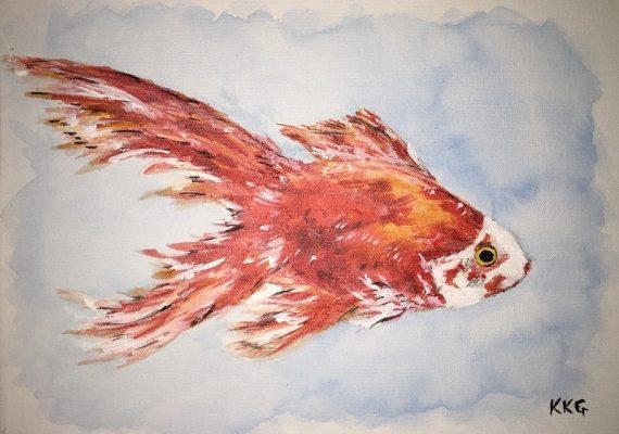 Pet portrait of a gold fish - Kelly Goss