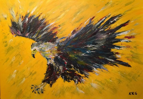 Fish Eagle painting - Kelly Goss Art