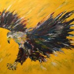 Fish Eagle painting - Kelly Goss Art