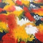 Abstract - oils on hardboard - Kelly Goss