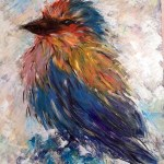 Lilac Breasted Roller - acrylics on canvas -Kelly Goss Art