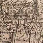 Soho Square, London - ink on paper - Kelly Goss