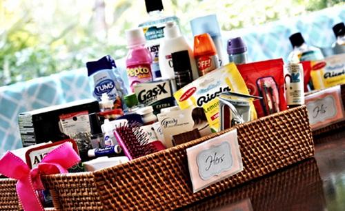 Ideas for Wedding Bathroom Guest Basket