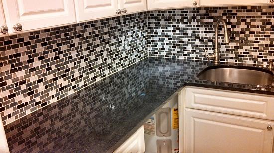 Granite Countertops with Tile Back Splash