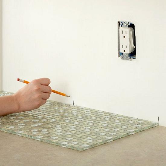 Steps to Tiling a Kitchen Backsplash