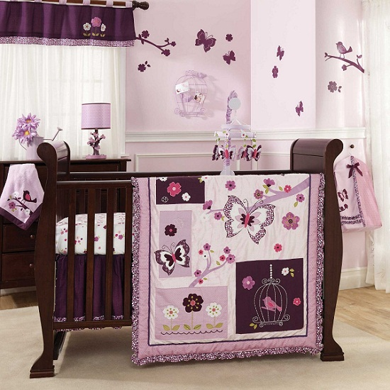 Mini Crib Bedding Sets Pink and Brown