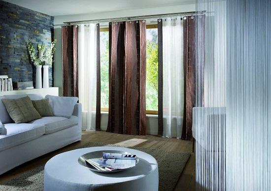 Sheer Living Room Window Treatments
