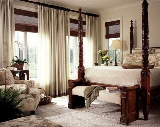 Curtain for Bay Windows in Bedroom