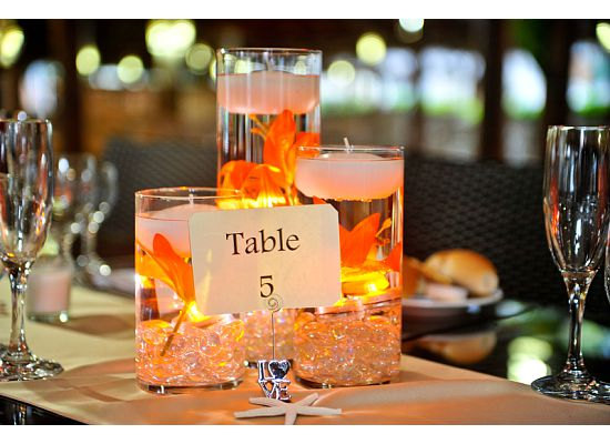Floating Candle Centerpieces with LED Lights