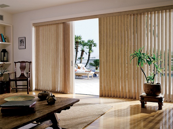 Vertical Blinds for Sliding Glass Doors