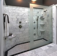 Pin Doorless Shower Design 150x150 Bathroom Ideas on Pinterest