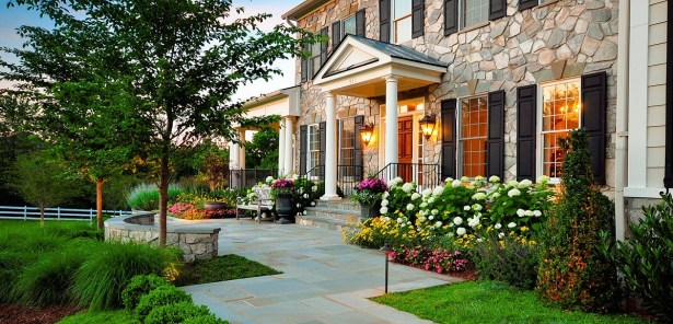 Landscape Ideas for Front Yard with Flower