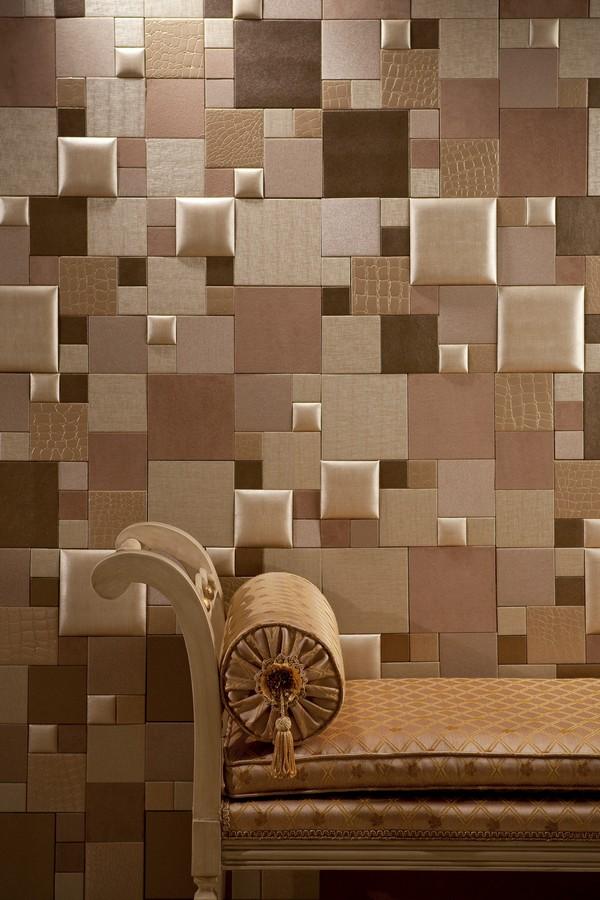 Elegant Faux Leather Tiles Combination