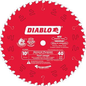 Diablo 10 In. General Purpose Blade – 40 Teeth