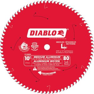 Diablo 10 In. Non-Ferrous Plastic – 80 Teeth