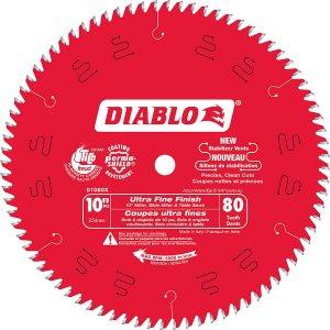 Diablo 10 Inch x 80 Th. ultra Fine Finish