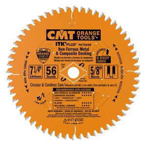 CMT – NON-FERROUS METAL AND COMPOSITE DECKING SAW BLADES