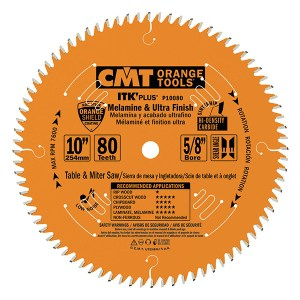 CMT – MELAMINE AND ULTRA FINISH SAW BLADES