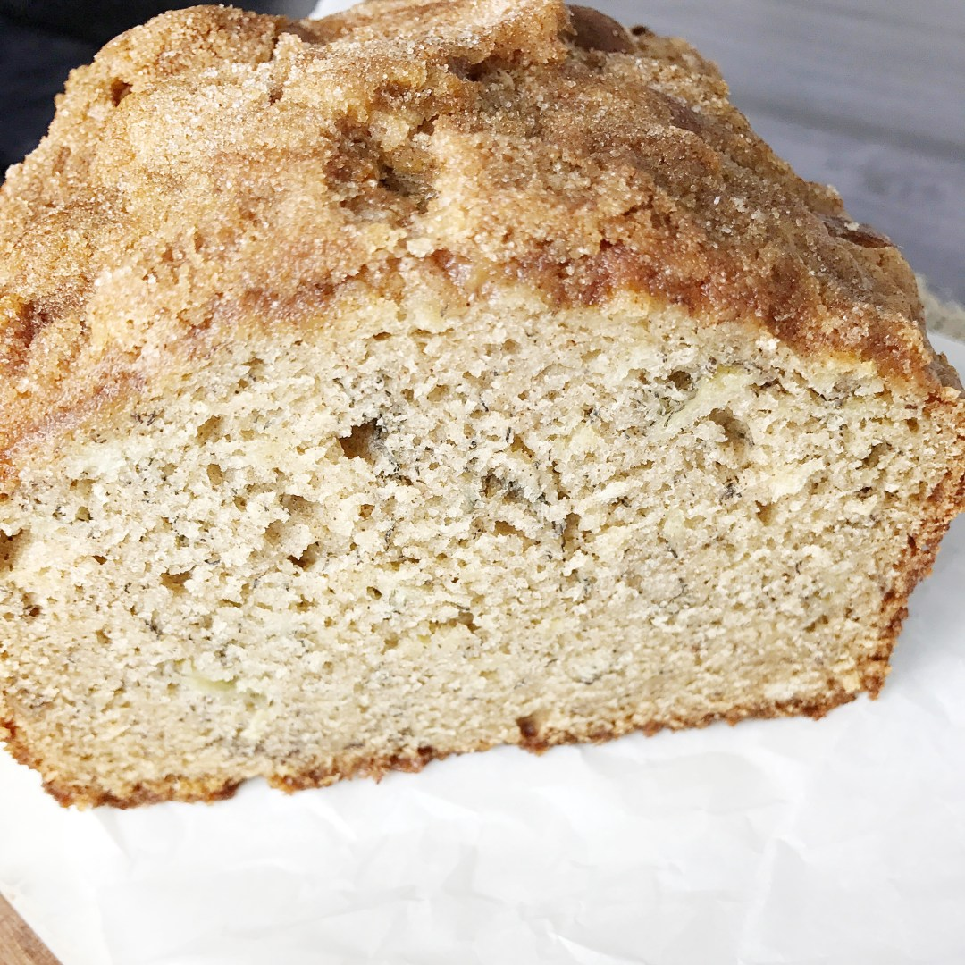 Banana Bread with Cinnamon Sugar Crust - Kelly Lynn\'s Sweets and Treats
