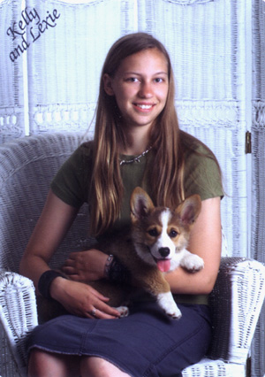 Me holding Lexi as a puppy.