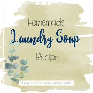 A recipe for a homemade, all natural laundry soap.
