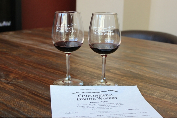 Continental Divide Winery in downtown Breckenridge. Check out this list of 10 things to do in Breck!