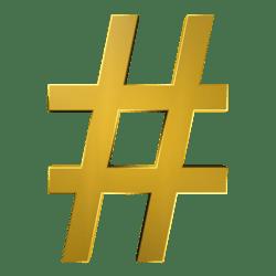 gold hashtag