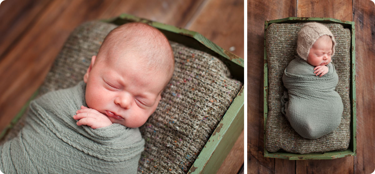 baby-boy-green-newborn-setup