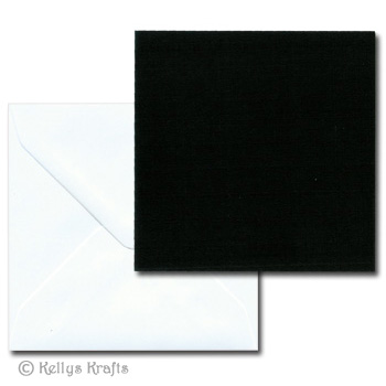 black 5x5 square card