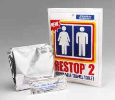Restop 2 Disposable Travel Toilet