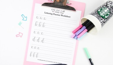 Free Brush Lettering Practice Worksheets by Kelly Sugar Crafts