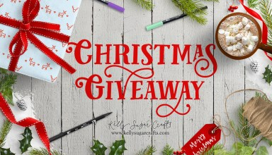 Giveaway, Christmas 2017 | Lettering with Purpose, Tombow Dual Brush Pens, Fudenosuke Pens, and Tracing paper pad | Kelly Sugar Crafts