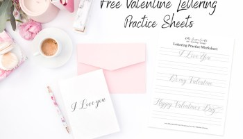 Free Hand Lettering Practice Sheets: Brush Lettering | Kelly