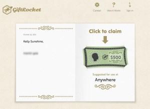 $500 GiftRocket Tribute