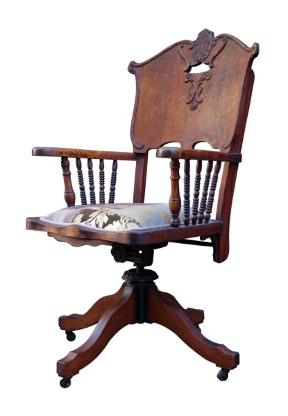 antique office chair Wild West Antique Desk Chair | Kelly Swallow Bespoke Chairs