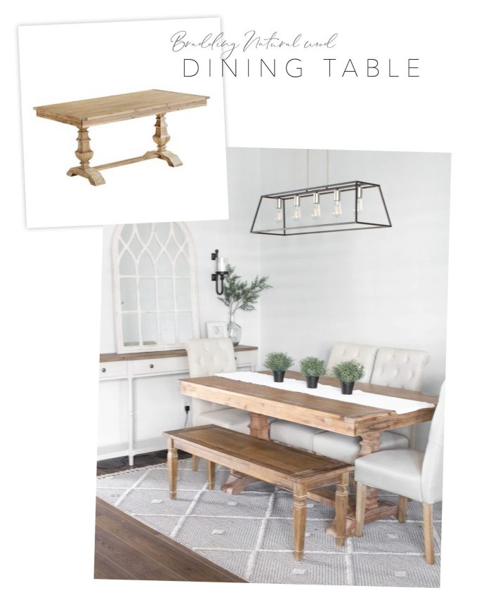 Pier 1 dupe Bradding dining table and bench