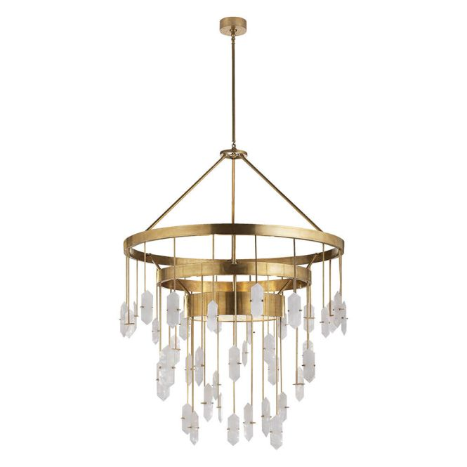 Halcyon Large Chandelier Brass