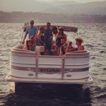 pontoon boat party okanagan lake