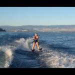 woman water-skiing on Okanagan Lake