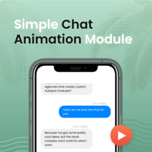 hubspot chat animation module