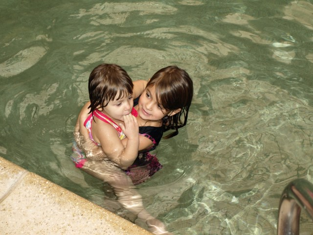 Cousins in the Pool