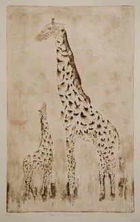 "Masai's Comfort - 11x18"" Aquatint"