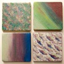 Purples & Blues tile set - SOLD
