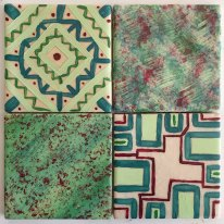 Teal Geo tile set (SOLD)