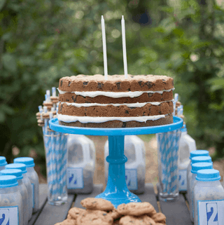Ollie's 2nd Birthday Chocolate Chip Cookie Layer Cake