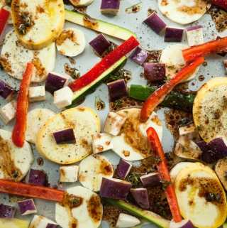 Roasted Vegetables with Balsamic Vinaigrette