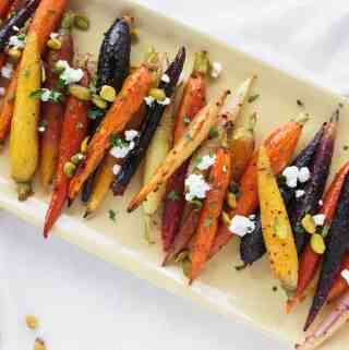 Roasted Honey Glazed Carrots with Pistachios