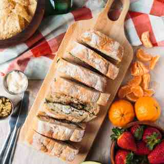 Pressed Picnic Sandwich with Roasted Red Pepper and Pepperoncini Spread