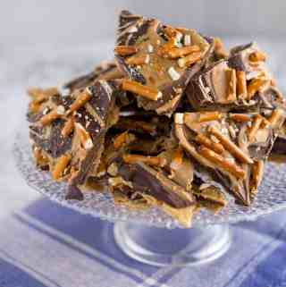 Chocolate Peanut Butter Toffee Bark